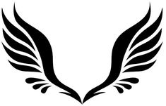 Simple Angel Wing Tattoo