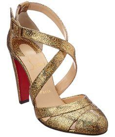 04ac042fb4b CHRISTIAN LOUBOUTIN Christian Louboutin Estradouche Cosmo 3D 100 Metallic  Leather Pump .  christianlouboutin  shoes  sandals