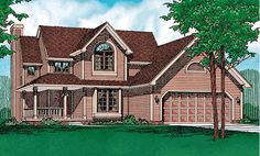 House Plan 94938 | Country   Farmhouse   Plan with 1650 Sq. Ft., 3 Bedrooms, 3 Bathrooms, 2 Car Garage