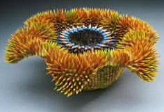 Sculptures made from tips of colorpencils! By Jennifer Maestre