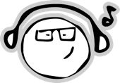 black and white DJ cartoon character wearing headphones Cartoon Characters, Avatar, Dj, Headphones, Black And White, Cartoon Caracters, Black White, Ear Phones, Blanco Y Negro