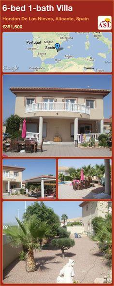 Villa for Sale in Hondon De Las Nieves, Alicante, Spain with 6 bedrooms, 1 bathroom - A Spanish Life Alicante Spain, Madrid Barcelona, Seville, Casablanca, Lisbon, Rome, Portugal, Spanish, Bath