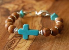 Confirmation Gift. Gift for Godson. Olive Wood Rosary Bracelet. First Communion Boy.