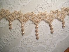 tatting & pearls ~ Fruit of their Hands