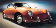 Porsche 356; Digital Painting