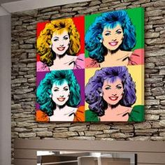 Personalized Gifts for Woman - Exclusive Warhol pop art portraits on canvas from your photos  $199.00