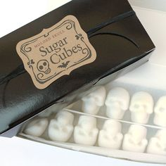 Apothecary Jar 30 Skull Shaped Sugar Cubes by dembones on Etsy