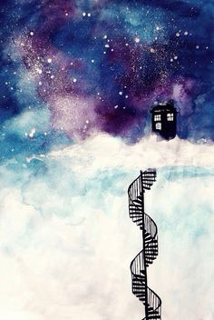 Doctor Who - TARDIS in the sky - 11th Doctor  Clara Oswin Oswald - Matt Smith - Jenna Louise Coleman