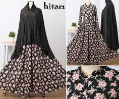 Baju Muslim Gamis Syar'i Nanda Syari Hitam - http://warongmuslim.com/baju-muslim-gamis-syari-nanda-syari-hitam.html