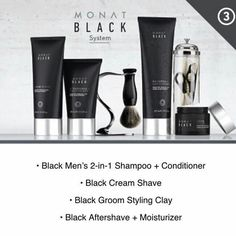 Monat Black - the whole package for him!  www.teamstimson.mymonat.com