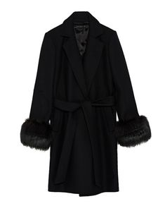 COAT WITH TEXTURED CUFFS-NEW IN-WOMAN | ZARA Serbia