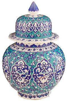 Iznik Design Ceramic Jar yurdan.com