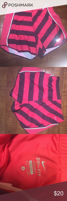 """Nike """"Dri-Fit"""" running shorts Very gently used- loved this print but bought too small. Has lining & draw- string!! in like new condition Nike Shorts"""