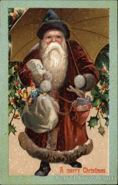A Merry Christmas with Santa and Umbrella Series 46/213/47