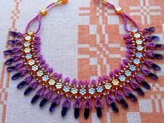 Free pattern for necklace Veronika  Click on link to get pattern - http://beadsmagic.com/?p=6268