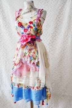 Bohemian Art To Wear  Hippie Gipsy Boho Feminine by irinacarmen, $168.00