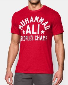 45f81e05 New Under Armour Mens Roots Of Fight Muhammad Ali People's Champ Shirt Size  L #Underarmour