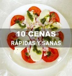 10 cenas rápidas y sanas. Recetas paso a paso. Veggie Recipes, Real Food Recipes, Cooking Recipes, Healthy Snacks, Healthy Eating, Healthy Recipes, Healthy Dinners, Breakfast For Dinner, Light Recipes