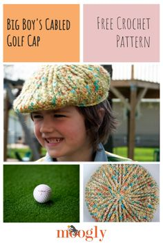 I loved making the cables for this free crochet flat cap pattern, and I hope you do too! Video tutorials for the magic circle, fpdc, FLO/BLO, and dc2tog are linked in the pattern. Size: 20-22 inch head, age 4+ #freecrochetpattern #redheartyarns #mooglyblog #crochetforboys #kidscrochet Crochet For Boys, Free Crochet, Knit Crochet, Magic Circle Crochet, Crochet Flats, Flat Cap, Crafts For Kids To Make, Red Heart Yarn, Crochet Patterns For Beginners