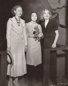Frances Drake and Josephine Hutchinson with Carole at her V Pier Party 6-1935