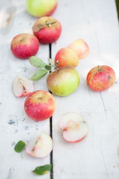 The Season of Pink Apples {Apple, Walnut, Yogurt and Olive Oil Cake} :: Cannelle et Vanille