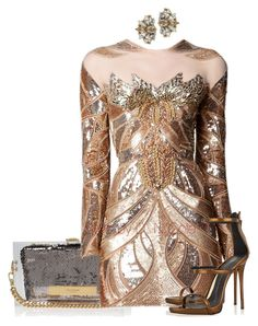 """Untitled #3047"" by stylebydnicole ❤ liked on Polyvore featuring Kurt Geiger, Zuhair Murad, Giuseppe Zanotti and Anton Heunis"