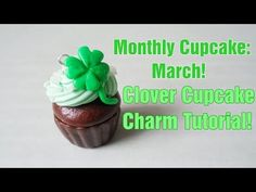 Patrick's Day Cupcake Charms – Polymer Clay Sculpey Clay, Polymer Clay Projects, Diy Clay, Clay Crafts, Polymer Clay Cupcake, Polymer Clay Disney, Polymer Clay Charms, St Patricks Day Cupcake, American Girl Food