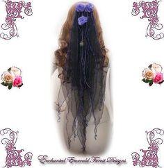 Purple & Black Gothic Wedding Alternate Bridal Veil