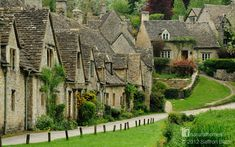 This is Arlington Row in Bibury, Gloucestershire, England. The beautiful terrace was built over 600 years ago. It was converted to cottages for weavers in the 17th century. Find out more at www.naturalhomes.org/img/bibury.jpg