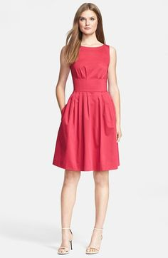 kate spade new york 'sonja' stretch cotton fit & flare dress available at #Nordstrom