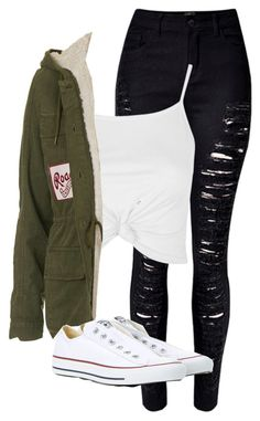 """Untitled #182"" by haileyhoksbergen on Polyvore featuring Topshop and Converse"