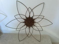 Sunflower made from steamed willow by Ways with Willow CIC www.wayswithwillow.co.uk