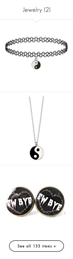 """""""Jewelry (2)"""" by dreadful103 on Polyvore featuring jewelry, necklaces, accessories, choker, tattoo jewelry, silver tone jewelry, silvertone jewelry, tattoo choker necklace, choker necklace and neck"""
