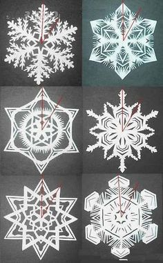 How to make exquisite paper-cut snowflakes tutorials | Xinblog