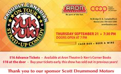 Events « Aron Theatre Co-operative Inc. in Campbellford, within driving distance of Port Hope