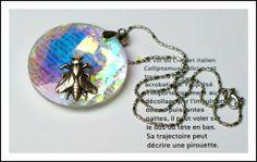 Crystal Pendant Necklace  Kaleidoscopic by mentalembellisher, $48.00