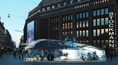 Plastique Fantastique builds a giant bubble around The Three Smiths | Helsinki Design Weekly