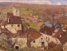 HENRI MARTIN French, 1860 - 1943 Saint Cirq Lapopie  c. 1916 Oil on canva