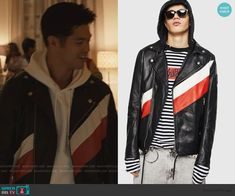 13 Reasons Why Zach, Moto Jacket, Leather Jacket, Zach Dempsey, Ross Butler, Other Outfits, Biker, Black Leather, Jackets
