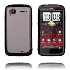 Gjennomsiktig Bakdel (Sort Kant) HTC Sensation XE Deksel
