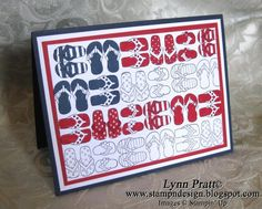 Cute card for fourth of July.  Stampin Up card made by Lynn Pratt.