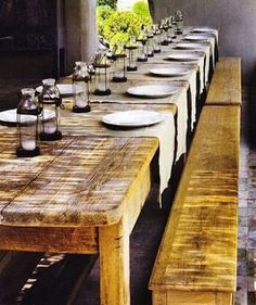 Reclaimed Wood Farm Kitchen Table