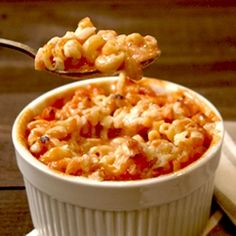 Tomato soup Mac and Cheese...sounds interesting, but I would try it!