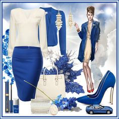 """blue chic"" by rachidadada on Polyvore"
