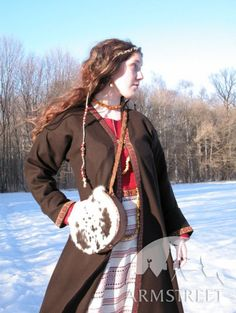 VIKING MEDIEVAL COSTUME: TUNIC+GOWN+OVERCOAT