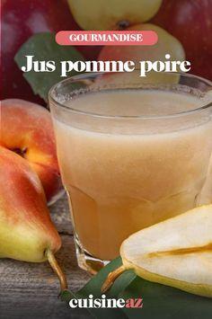 Une recette de jus de pomme et poire maison à préparer à la centrifugeuse. #recette#cuisine #jus #pomme #poire #jusdefruit #jusdepomme #jusdepoire Cantaloupe, Food, Salads, Drink, Apple, Food Porn, Essen, Meals, Yemek