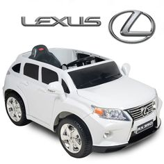 Addie and Hollis need this! To maybe match Mommys new car! Lexus Kids Ride On SUV Battery Powered Wheels Car RC Remote - White Power Wheel Cars, Power Wheels, Rc Remote, Bluetooth Remote, Lexus Suv, Toy Cars For Kids, Police, Old Time Radio, Kids Ride On