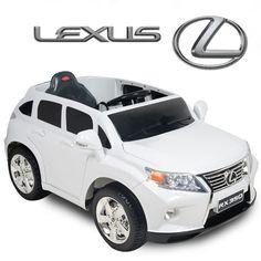 12v lexus rx350 kids ride on suv battery powered wheels car rc remote white