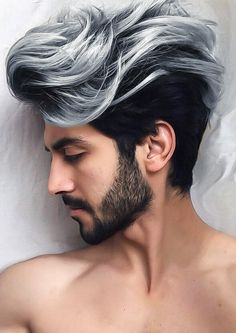 18 Beard Styles Men Should Try To Compliment Combed Back Hairstyle, Combed back hairstyle is great for curls are well as straight hair. Here are 10 beard styles that suit this look. Siempre lo digo: aunque las chicas qui tenemos el pelo fino to. Cool Hairstyles For Men, Long Hairstyles, Haircuts For Men, Hairstyle Ideas, Straight Hairstyles, Mens Hairstyles Color, Glasses Hairstyles, Woman Hairstyles, Stylish Haircuts