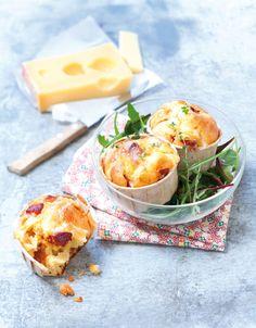Muffins moelleux au chorizo et à l'Emmentaler